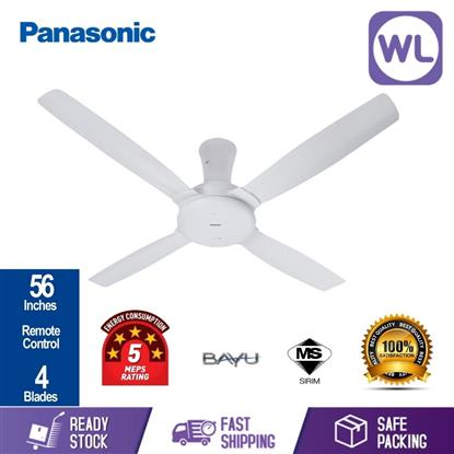 Picture of PANA BAYU 4 BLADE CEILING FAN F-M14CZVBWH (WHITE/ 56'')
