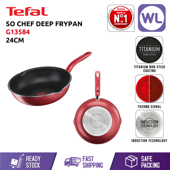 Picture of TEFAL COOKWARE SO CHEF DEEP FRYPAN G13584 (24CM/ INDUCTION BASE)