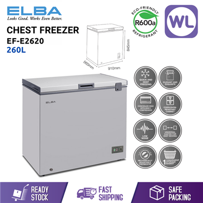Picture of ELBA CHEST FREEZER EF-E2620 (260L/ GREY)