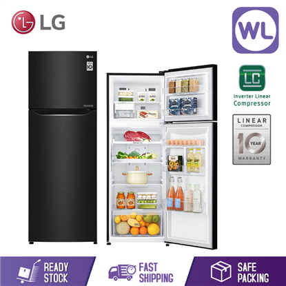 Picture of LG TOP FREEZER GN-C372SXCC (312L/ BLACK STEEL)