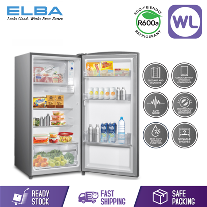 Picture of ELBA SINGLE DOOR FRIDGE ER-C1815 (185L/ SILVER)
