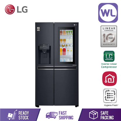 Picture of LG SIDE BY SIDE FRIDGE GC-X247CKAV (601L/ MATTE BLACK)