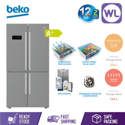 Picture of BEKO MULTI DOOR FRIDGE GN1416231ZX (626L/ TITANIUM INOX)