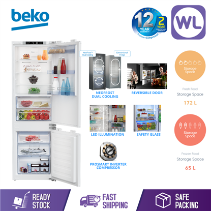 Picture of BEKO BUILT IN REFRIGERATOR BCN-130000 (300L/ WHITE)