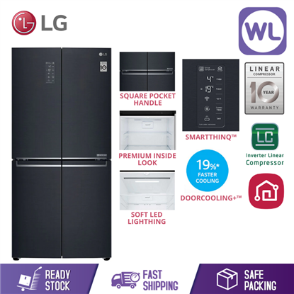 Picture of LG SLIM FRENCH DOOR FRIDGE GC-B22FTQPL (453L/ MATTE BLACK)
