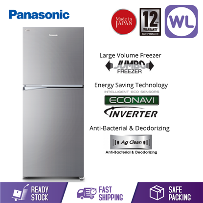 Picture of PANASONIC 2 DOOR FRIDGE NR-BL342PSMY (325L/ SILVER)