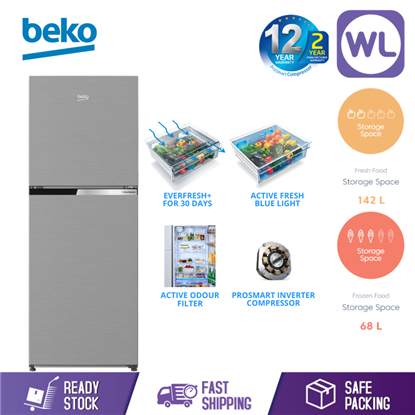 Picture of BEKO FRIDGE RDNT231I50VZS (BRUSHED SILVER)