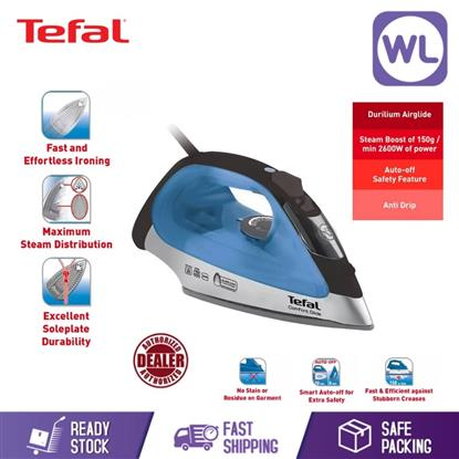 Picture of TEFAL COMFORT GLIDE STEAM IRON FV2681 (2600W/ BLACK BLUE)