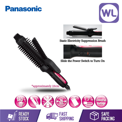 Picture of PANASONIC COMPACT STYLING BRUSH IRON EH-HT45-K655 (BLACK)