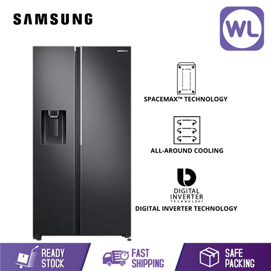 Picture of SAMSUNG SIDE BY SIDE FRIDGE RS64R5101B4 (660L/ BLACK)