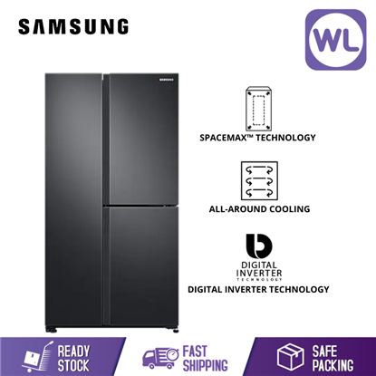 Picture of SAMSUNG SIDE BY SIDE WITH FLEXZONE FRIDGE RS63R5591B4/ME (670L/ BLACK)