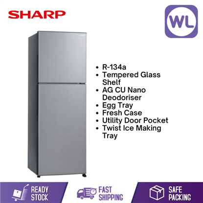 Picture of SHARP SMILE REFRIGERATOR SJ285MSS (280L/ SILVER )