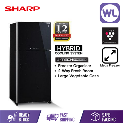 Picture of SHARP PELICAN REFRIGERATOR SJP68MFGK (610L/ BLACK)