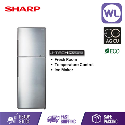 Picture of SHARP SMILE REFRIGERATOR SJ406MSS (400L/ SILVER)