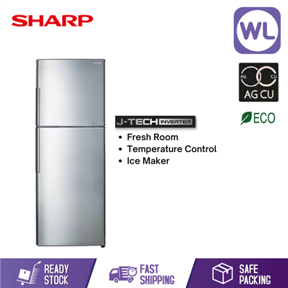 Picture of SHARP SMILE REFRIGERATOR SJ366MSS (360L/ SILVER)