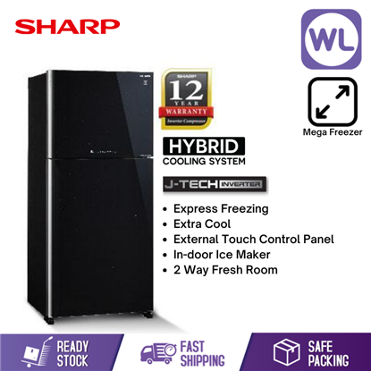 Picture of SHARP PELICAN REFRIGERATOR SJP78MFGK (670L/ BLACK)