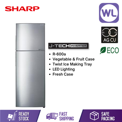 Picture of SHARP SMILE REFRIGERATOR SJ286MSS (280L/ SILVER)
