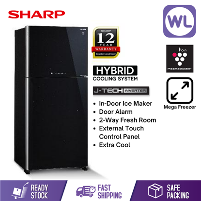 Picture of SHARP PELICAN REFRIGERATOR SJP88MFGK (720L/ BLACK)