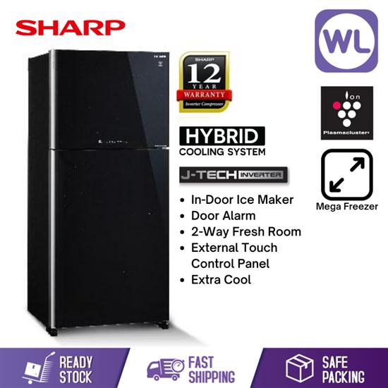 Picture of SHARP PELICAN REFRIGERATOR SJP88MFGK (720L/ BLACK)