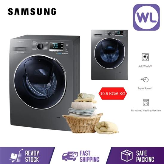 Picture of SAMSUNG 10.5/6.0kg FRONT LOAD WASHER DRYER WD10K6410OX