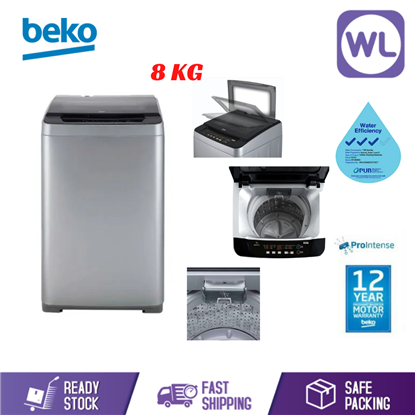 Picture of BEKO 8kg TOP-LOAD WASHER BTU8086S