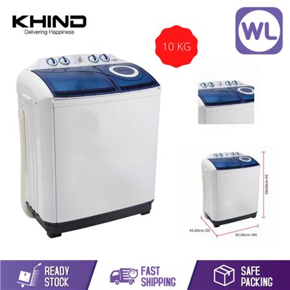 Picture of KHIND 10kg SEMI AUTO WASHER WM 1017