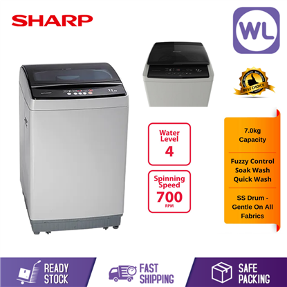 Picture of SHARP 7kg TOP LOAD WASHER ES718X