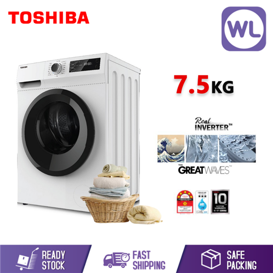 Picture of TOSHIBA 7.5kg FRONT LOAD REAL INVERTER WASHER TW-BH85S2M