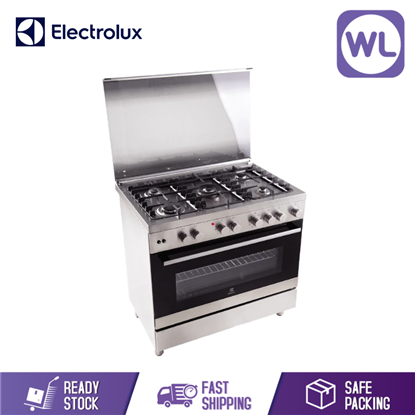 Picture of ELECTROLUX 90CM FREESTANDING GAS COOKER with ELECTRIC OVEN EKM9689X