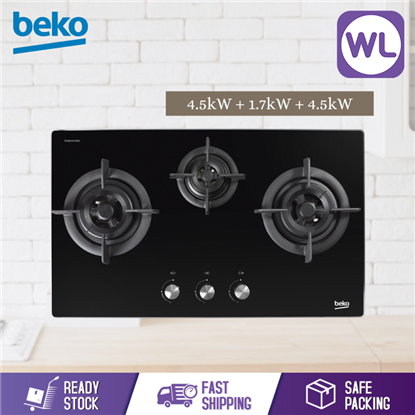 Picture of BEKO BUILT-IN HOB HISW73225SOB (Gas, 75cm)