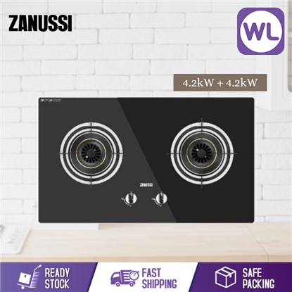 Picture of ZANUSSI 78CM BUILT-IN BLACK SAFETY GLASS HOB ZHG723BA