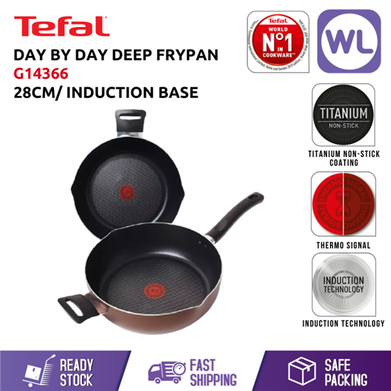 Picture of TEFAL COOKWARE DAY BY DAY DEEP FRYPAN G14366 (28CM/ INDUCTION BASE)
