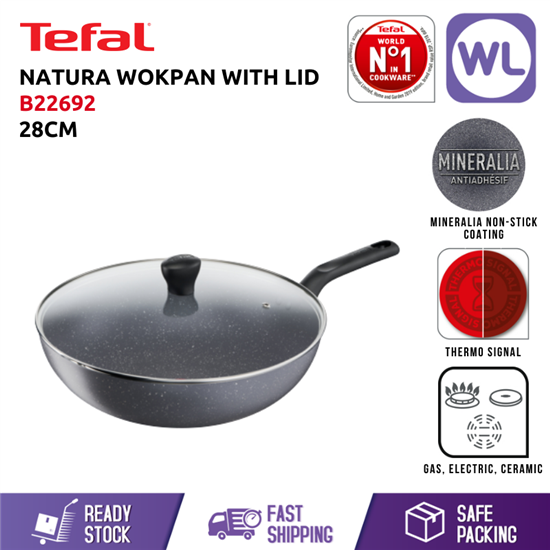 Picture of TEFAL COOKWARE NATURA WOKPAN WITH LID (28CM)