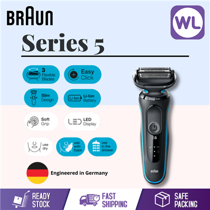 Picture of BRAUN SERIES 5 WET & DRY SHAVER 50-M1000S