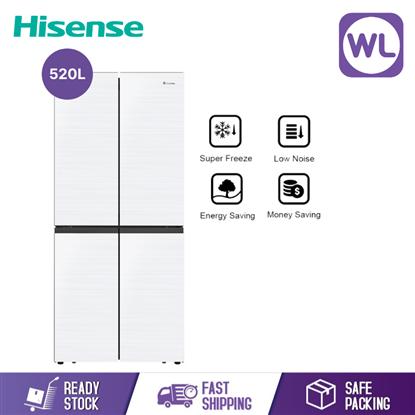 Picture of HISENSE 4 DOOR FRIDGE RQ566N4AWU (520L/ WHITE)