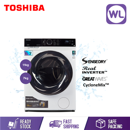 Picture of TOSHIBA 11/7kg FRONT LOAD WASHER DRYER TWD-BJ120M4M