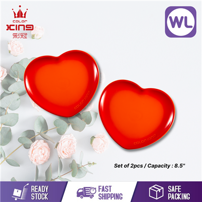 Picture of COLOR KING 8.5'' HEART SHAPED PLATE (ORANGE)