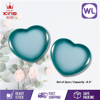 Picture of COLOR KING 8.5'' HEART SHAPED PLATE (BLUE)