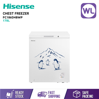 Picture of HISENSE CHEST FREEZER FC186D4BWP (178L/ WHITE)