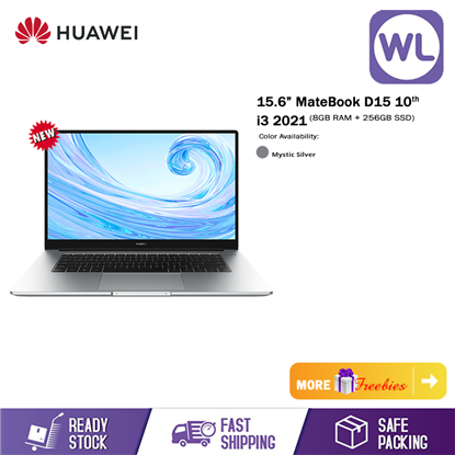 """Picture of Huawei 15.6"""" MateBook D15 10th i3 2021 (8GB RAM+256GB ROM SSD)"""