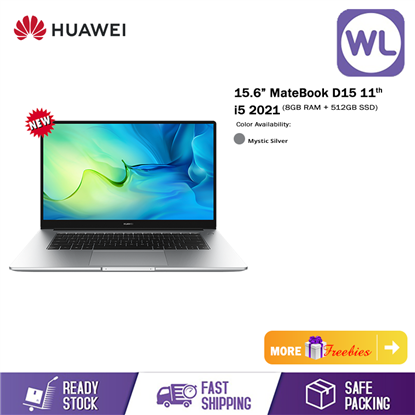"""Picture of Huawei 15.6"""" MateBook D15 11th i5 2021 (8GB RAM+512GB ROM SSD)"""